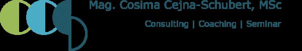 Consulting - Coaching - Seminar Mag. Cosima Cejna-Schubert